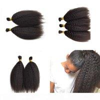 Capelli umani malesi Kinky High Straight Hair Bulk per intrecciare 3 bundles I capelli setili I capelli lisci Colore naturale può essere tinto fdshine