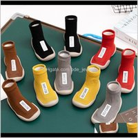Clothing Baby, Kids & Maternity Drop Delivery 2021 Autumn And Winter Children Floor Terry Baby Socks Short Tube Cloth Label Shoes Cottonchue