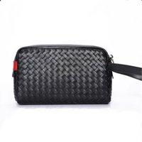 Handbag New Woven Korean Version Of Casual The Trendy Cowhide Folder Bag Clutch Men's Toiletry Leather Djech