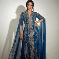 2021 Plus Size Arabic Aso Ebi Luxurious Lace Beaded Prom Dresses Mermaid Sexy Long Sleeves Evening Formal Party Second Reception Gowns ZJ475