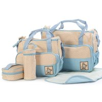 Duffel Bags 5pcs Baby Waterproof Organizer For Mom Changing Nappy Diaper Set Oxford Cloth Mother Handbag Practical Durable
