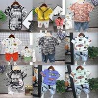 Дети Маленькие Мальчики Наборы одежды 2020 Летняя Мода Малыш Малыш Футболка Джинсовые Джинсы Шорты Одежда для одежды для 2 3 4 5 6 лет1 756 Y2