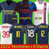 20 21 Maillot Lyon 2020 2021 Olympique Lyonnais Camisa de futebol Maillot de foot OL camisas de futebol TRAORE MEMPHIS men kids kits equipment