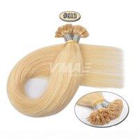 Brasiliano Russo 0.5g Strand 50g Blonde naturale Bionda Dritto Cheratin Fusion Double Drawn preanded U Tip Virgin Remy Remy Destensione dei capelli umani