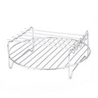 Air Fryers Double Layer Rack Accessory com 5 espetos, para AIRFryers
