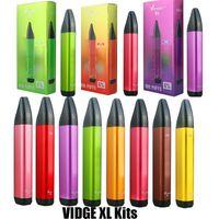 Cigarrillos desechables de Vidge XL Kit de dispositivo de vástago 800 Puffs 500mAh Batería 3ml Poders precolpados Cartuchos Stick Vape Pen vs Air Elf Bar