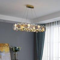 Luxury postmodern chandeliers atmospheric living room chandelier simple LED dining room bedroom chandelier clothing store lamps