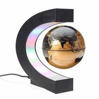 Magnetic Levitation Floating Globe Led World Map Novelty Night Light Electronic Antigravity Ball Lamp for Office Home Decoration Q0525