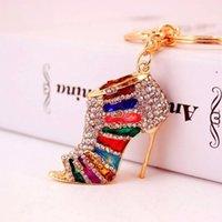 Charm Crystal New Rhinestone High Bag Purse Heels Shoe Pendant Keyring Key Chain Accessories Wedding Party Lover Gift p4RQEMRQEMRQEM