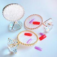 Kits de Arte das unhas Dicas de exposição Multifuncional Faux Big Diamond Metal Portable Rack para manicure