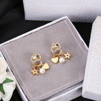 2021 дизайнеры женские женские жемчужные серьги классические буквы ухо мужские серьги золотые серебряные украшения аксессуары высокого качества модный подарок для девочек с коробкой