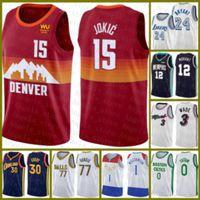 2020 2021 New basketball Jersey Nikola DenverNuggets15 Jokic Derrick 25 Rose Zion 1 Williamson Paul 13 George Marcus 36 Smart