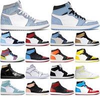 1 مع الجوارب الحرة الساتان الساخنةالأردنرجعية1S أحذية رجالي كرة السلة 1 محطمة الخلفية mocha unc الرياضة أحذية رياضية 36-46
