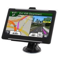 Nova qualidade de alta qualidade HD 7 polegadas carro Bluetooth GPS Navegação sem fio Navegador 800MHz Transmissor FM 8GB 3D Mapas Touch Screen Navigators
