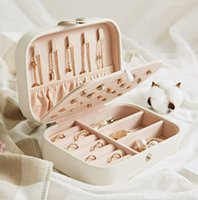 Jewelry Boxes Portable Travel Storage Boxes Organizer PU Leather Display Storage Case Necklace Earrings Ring Jewelry Holder Gift Box LLA8739