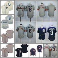 은퇴 한 6 알 Kaline Baseball Jersey 3 Ian Kinsler 1968 1984 빈티지 레트로 쿠퍼스 타운 메쉬 스티치 풀오버