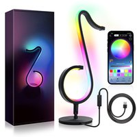 Smart Musical Note Lights Led Strip RGB Symphony Table Lamp Bedside Wall Lamps Bedroom Bar Night Light APP Remote Control