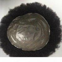 Männer Hair Toupee Menschenhaar Rohe Superdünne Haut Männer Perücke Für Schwarze Männer Afro Human Hair Mens Toupee