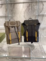 Classic Mens Tiger Head Soft Travel Backpack Sup Correas Web Brown Amarillo Vintage Bolsa de lona de la vendimia Web Stripe Luxurys Designer Bolsas de hombro