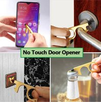 No Touch Door Opener Keychains Anti Contact Tool Rubber Tip Portable Handles Contactless Safety Press Elevator