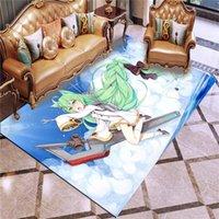 Carpets Azur Lane Carpet Anime Cartoon Play Mat Rug 3D Printing Outdoor Blue Background Home Room Living Bathroom