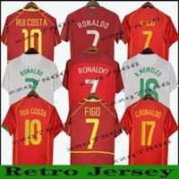 1998 2012 2010 Retro Ronaldo Futbol Formaları Ev Figo Nani 2002 2004 Oyun Sürümü Oyun Figürü 16 Vintage Pui Costa Quaresma J.Moutinho R. Meireles Klasik Unifom