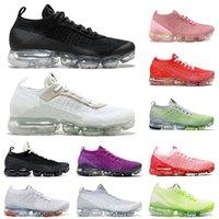 Ayakkabı Nike Air Vapormax Tn Plus 3 Airmax Vapor Max Off White Flyknit Erkek Kadın Koşu Ayakkabısı Üçlü Siyah Kırmızı Yeşil Gri Kızıl Çok Renkli Spor Ayakkabıları Eğitmenler