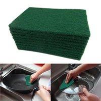 Dunkelgrüner langlebiger Schwerlastscheiben-Pad Allzweck-Peeling-Schwamm-Scheuerung Nicht-Scratch-Topf-Scrubber-Reinigung GGA5087