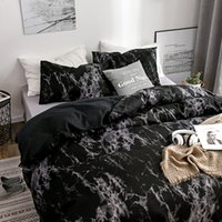 Designer Bed Comforters Sets Luxury 2 3pcs Bedding Set Printed Marble White Black Duvet Cover European Size King Queen Quilt Cover