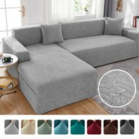 Waterproof L Shape Corner Sofa Cover 1 2 3 4 Seaters Jacquard Fabric Big Elastic Slipcover Removable Covers For Living Room