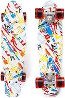 Skateboard EYCI 22COMPLETE, une planche à roulettes très flexible que les adolescents garçons et filles aiment