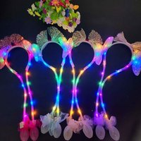 Party Favor Christmas Sequin luminous Ear Moving Hat pinch will move the rabbit ear Festive luminous hair hoop T2I52796