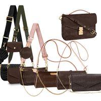 Saco de ombro Mulheres Luxurys Designers Sacos 2021 Handbag Pochette Acessórios Crossbody Mini Moeda Bolsa Bolsa Chave Carteira Carteira Titular