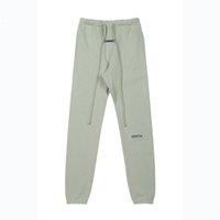 Sonbahar Kış Erkek Pantolon Tasarımcı 3 M Yansıtıcı Pantolon Casual Matcha Yeşil Kahve Kahverengi İpli Eşofba Erkek Kadın Koşu Giyim