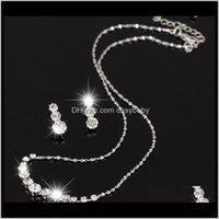 Collar Conjuntos Joyería Drop Entrega 2021 Vestido de regalo de Navidad Aesoramiento de la boda Joyería La novia JoyeríaFashion Austria Pendientes de cristal