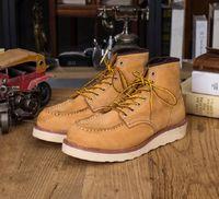 Avec boîte | chaud VENTE | Homme de la cheville rouge de la cheville rouge Homme Wing Warm Work Outdoor Work Cowboy Moto Beel Homme 875 Chaussures Et Kanye 500 Bottes Boots Sneaker