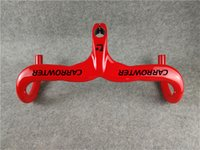 الحمراء اللوحة كارترول كربون الطريق دراجة المقود 400 420 440 * 90 100 110 120 ملليمتر مع UD 3K لامعة ماتي