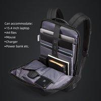 Kingsons Slim Laptop Backpack Men 15.6 Inch Office Work Business Bag Unisex Black Ultralight Thin Mochila