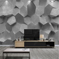Wallpapers Modern Atmospheric Nordic Mural Three-dimensional Gray Geometric Wallpaper For Living Room Sofa Background Wall Paper Home Decor