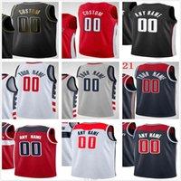Personalizado impreso Russell 4 Westbrook Bradley 3 Beal Rui 8 Hachimura Davis 42 Bertans Hombres Mujer Niños Jóvenes Washington Wizards Basketball Jersey