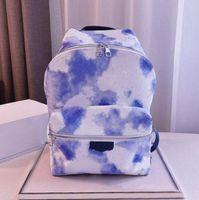 2021 Mens Womens 패션 배낭 최신 블루 타이 염료 배낭 디자이너 고급 여름 렌더링 가방