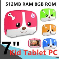 "Wholesale Children's Tablets A33 Quad Core Computers Networking laptop Q718 WIFI 512MB RAM 8GB ROM Dual Camera Android-4.4 Capacitive 7""Tablet PC"
