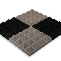 25x25x5cm Acoustic Foam Treatment Sound Proofing Sound-absorbing Noise Sponge Excellent Insulation Soundproof Wall Sticker11