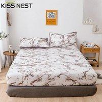 Schede Set da letto in marmo 180x200, lamiera adattabile regolabile 140x190,200x200, protettore materasso Coperchio quattro angoli, per camera da letto casa