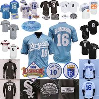 Bo Jackson Jersey 1989 ASG Patch 1985 Turn Blue 1987 1987 1991 1993 Cooperstown Blanc Blanc Blanc Blanc Black Pinstripe Gris Player Fans Taille S-3XL