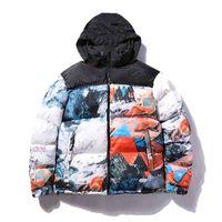 Moda hombre abajo abrigo de invierno para hombre chaquetas de abajo con letras parkas cartas cálidas patrón de bordado a prueba de viento