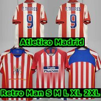 2003 2004 2005 Atlético Madrid Soccer Jerseys 2018 18 19 Koke # 6 Griezmann F.Torres 03 04 05 Home Vintage Classic Football Shirt