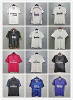Retro Klasik Real Madrid Futbol Formaları Zidane 1997 1998 1999 2000 02 03 04 05 07 08 2010 2011 2012 2014 2015 16 17 Retro Futbol Gömlek