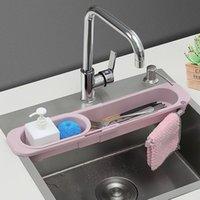 Hooks & Rails Kitchen Sink Shelf Sponge Drain Expandable Storage Basket Holder
