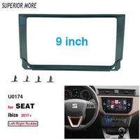 2 Din 9 Inch Car Radio Plastic Fascia Panel Frame for SEAT Ibiza 2017+ ABS+PC Installation DVD GPS Mp5 Dash Mount Kit